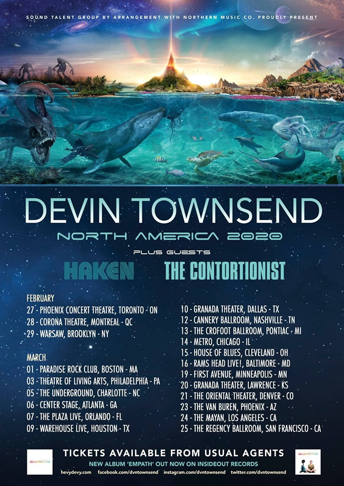 Devin Townsend North America 2020